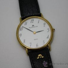 Relojes: RE093 RELOJ MAURICE LACROIX QUARTZ - CAJA DE ORO (TAPA EN ACERO) - CORREA ORIGINAL EN PIEL. Lote 38018798