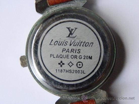7697867cab2a Watches  Bonito reloj Louis Vuitton. Marcado detras Paris plaque or g20m.  Correa marcada