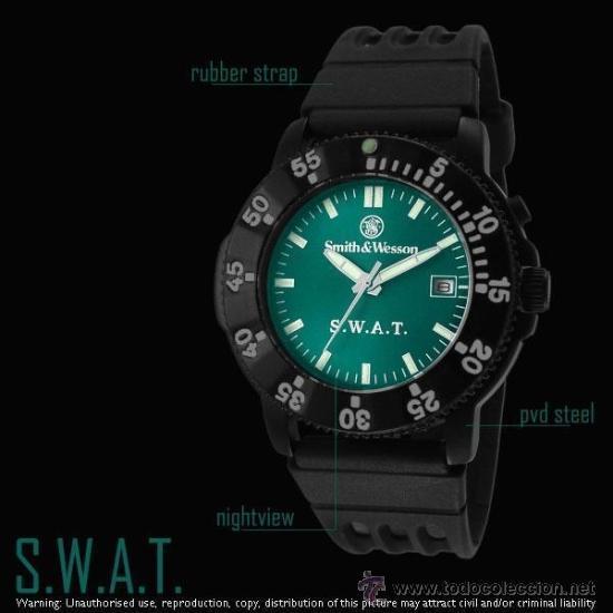 Smith Retroiluminado amp;wesson Vendido Venta Reloj Táctico En Swat YgIvf6by7