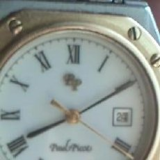 Relojes: PRECIOSO RELOJ DE SEÑORA PAUL PICOT DE ACERO Y ORO. CON HORA Y DATA. Lote 39193714