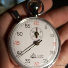 Relojes: RELOJ CRONÓMETRO ANTIGUO LESER DE CUERDA MANUAL. Lote 39447879