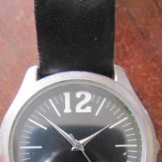 Relojes: ELEGANTE RELOJ DE DIAL NEGRO ANONIMO EN CAJA DE ACERO. Lote 235315525