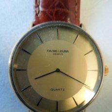 Relojes: RELOJ PULSERA FAVRE LEUBA - CAJA ORO 18 KLTS Y CORREA PIEL. Lote 40306422