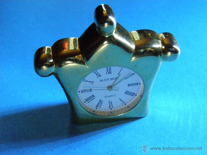 Relojes: Reloj Miniatura Dorado - Foto 2 - 188621412