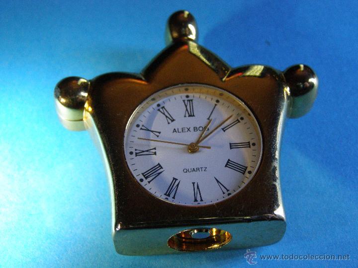 Relojes: Reloj Miniatura Dorado - Foto 3 - 188621412