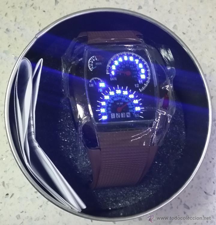 RELOJ LED MARCADORES ANALÓGICOS PULSERA CAUCHO CHOCOLATE (Relojes - Relojes Actuales - Otros)