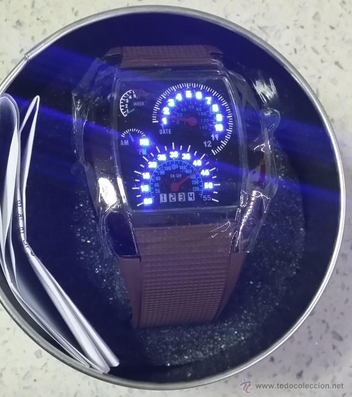 Relojes: RELOJ LED MARCADORES ANALÓGICOS PULSERA CAUCHO CHOCOLATE - Foto 3 - 68491286