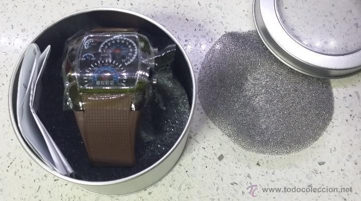 Relojes: RELOJ LED MARCADORES ANALÓGICOS PULSERA CAUCHO CHOCOLATE - Foto 5 - 68491286