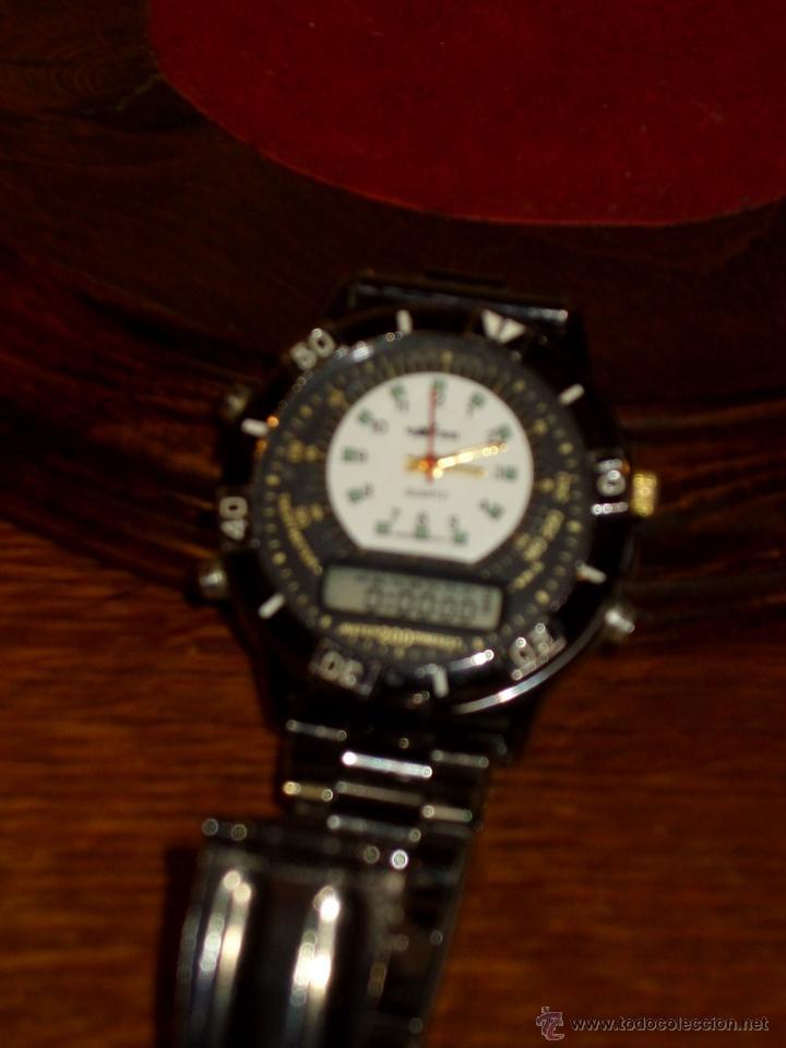 Relojes: VINTAGE RELOJ DE PULSERA SPORT MARCA DXTER TACHYMETER 200 WATER ANALOGICO DIGITAL,AÑOS 70. - Foto 3 - 41610593