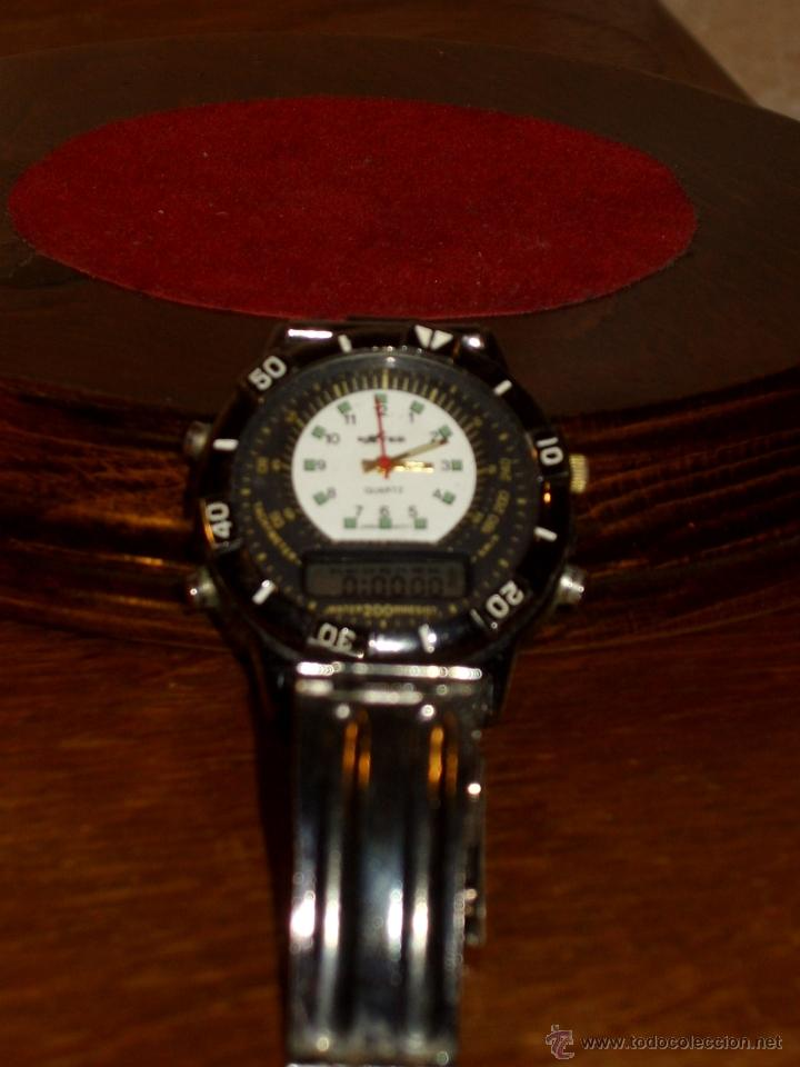 Relojes: VINTAGE RELOJ DE PULSERA SPORT MARCA DXTER TACHYMETER 200 WATER ANALOGICO DIGITAL,AÑOS 70. - Foto 4 - 41610593