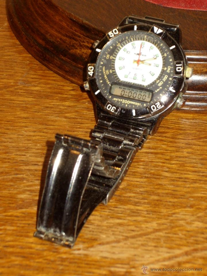 Relojes: VINTAGE RELOJ DE PULSERA SPORT MARCA DXTER TACHYMETER 200 WATER ANALOGICO DIGITAL,AÑOS 70. - Foto 5 - 41610593