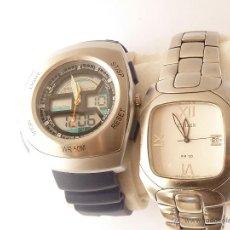 Relojes: LOTE DE DOS RELOJES DE CABALLERO, DE CUARZO, MARCAS ACTUALES . Lote 41632247