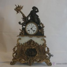 Relojes: RELOJ IMPERIO EN BRONCE Y MÁRMOL. PARÍS.. Lote 41664586
