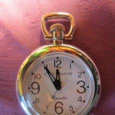 Relojes: RELOJ BOLSILLO COLECCION-LEPINE REDONDO PLATEADO. Lote 41823072