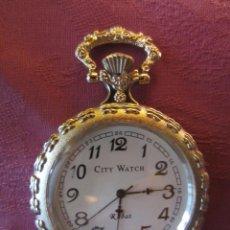 Relojes: RELOJ BOLSILLO COLECCION-LEPINE REDONDO PLATEADO-ESFERA BLANCA-MUY DECORADO. Lote 41823883