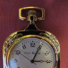 Relojes: RELOJ BOLSILLO COLECCION-LEPINE CUADRADO CON ESFERA REDONDA,PLATEADO.MUY DECORADO. Lote 143175750