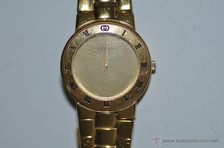 Relojes: reloj GUCCI ORIGINAL CHAPADO EN ORO - Foto 2 - 42056786