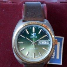 Relojes: HERMA CUARZO DE CABALLERO SUIZO (NOS = NEW OLD STOCK). Lote 85286448