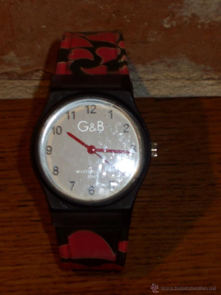Relojes: RELOJ DE PULSERA MARCA G&B WATER RESISTEN,NUEVO. - Foto 2 - 42467404