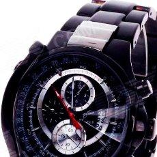 Relojes: RELOJ DE DISEÑO CROMO Y GRAFITO. Lote 51962387