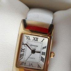 Relojes: GENEVA QUARTZ RELOJ PARA MUJER, CORREA DE ACERO INOXIDABLE FLEXIBLE, BATERÍA NUEVA. Lote 43019417