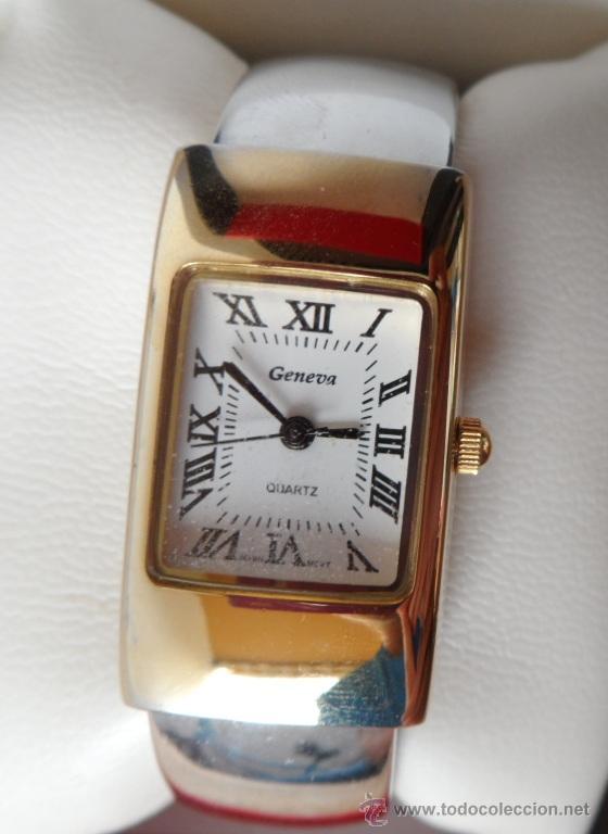 Relojes: Geneva Quartz Reloj para mujer, Correa de acero inoxidable flexible, Batería nueva - Foto 2 - 43019417