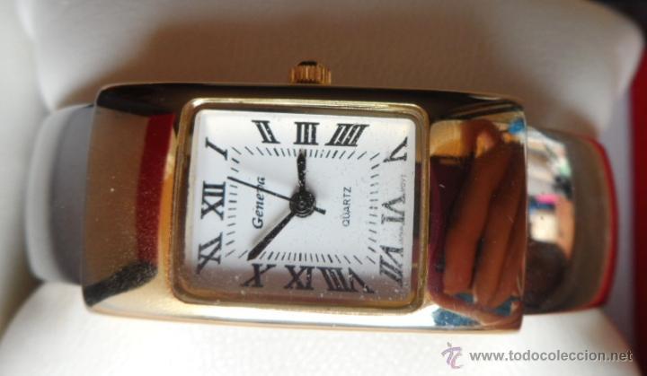 Relojes: Geneva Quartz Reloj para mujer, Correa de acero inoxidable flexible, Batería nueva - Foto 3 - 43019417