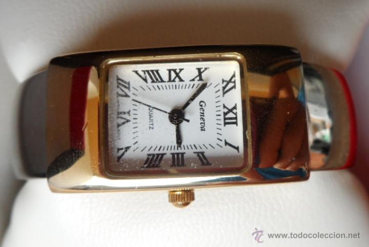 Relojes: Geneva Quartz Reloj para mujer, Correa de acero inoxidable flexible, Batería nueva - Foto 4 - 43019417