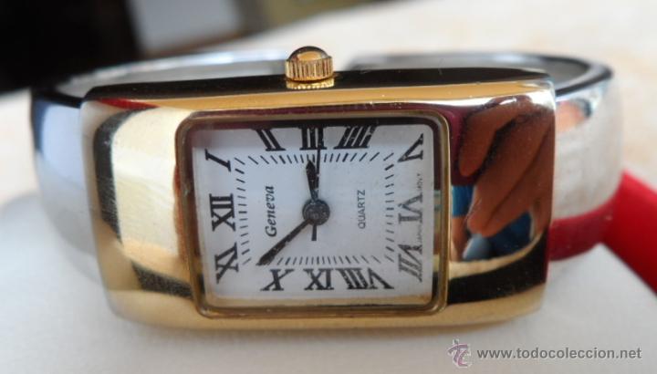 Relojes: Geneva Quartz Reloj para mujer, Correa de acero inoxidable flexible, Batería nueva - Foto 5 - 43019417