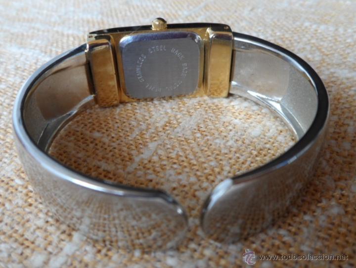 Relojes: Geneva Quartz Reloj para mujer, Correa de acero inoxidable flexible, Batería nueva - Foto 9 - 43019417