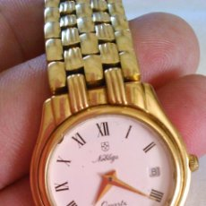 Relojes: RELOJ DE SEÑORA NOBLEZA QUARTZ . SWISS MADE. MARCA HORA Y DIA. Lote 43480681
