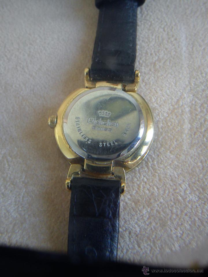 Relojes: MANGINFICO RELOJ HECHO DE NACREY METAL DORADO MARACA RICHELIEU MAD SUIZE QUARTZ LA CORREIA ES ORI. - Foto 5 - 44436627
