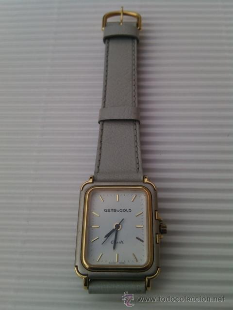 Relojes: RELOJ DE PULSERA PARA SEÑORA. ANALÓGICO GEMS & GOLD. SWISS MADE. Años 80. - Foto 2 - 44903291