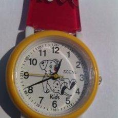 Relojes: RELOJ SCENE DE PULSERA. INFANTIL. DÁLMATA EN ESFERA. ANALÓGICO. GAMA KIDS. SIN USAR.. Lote 44906635