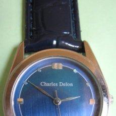 Orologi: RELOJ CHARLES DELON DE CABALLERO, CON MAQUINA JAPONESA NUMERADA. DIAL TEXTURADO. ACERO.. Lote 45610733