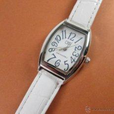 Relojes: RELOJ-DS(DOMENICO&STEFANO)-NUEVO-CORREA DE PIEL-BLANCA-VER FOTOS.. Lote 45756120