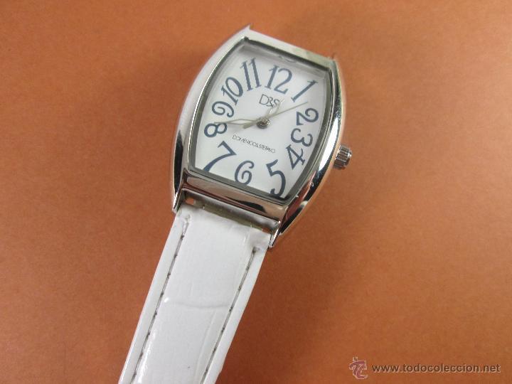 Relojes: RELOJ-DS(DOMENICO&STEFANO)-NUEVO-CORREA DE PIEL-BLANCA-VER FOTOS. - Foto 5 - 45756120