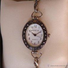 Relojes: RELOJ PARA MUJER MARCA GENEVA QUARTZ, MOVIMIENTO JAPONÉS, RELOJ DE BATERÍA (LA BATERÍA ES NUEVA). Lote 45873458