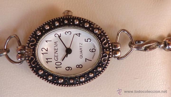 Relojes: Reloj para mujer marca Geneva Quartz, Movimiento Japonés, Reloj de batería (La batería es nueva) - Foto 2 - 45873458