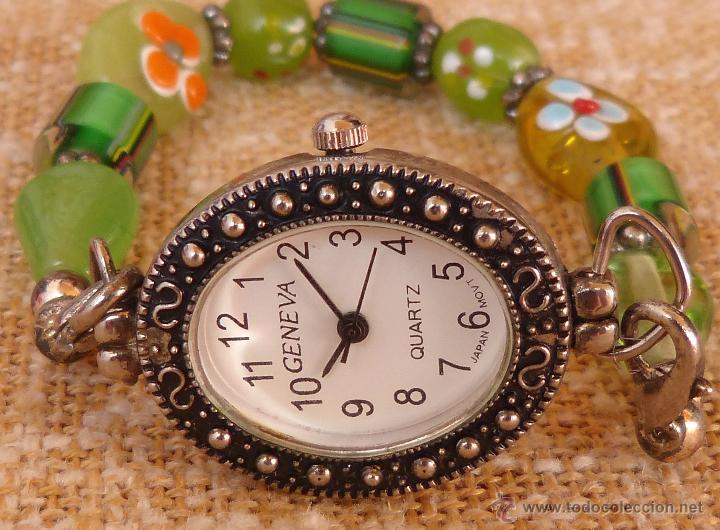 Relojes: Reloj para mujer marca Geneva Quartz, Movimiento Japonés, Reloj de batería (La batería es nueva) - Foto 3 - 45873458