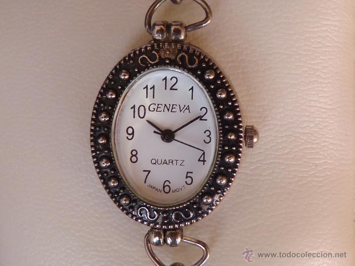 Relojes: Reloj para mujer marca Geneva Quartz, Movimiento Japonés, Reloj de batería (La batería es nueva) - Foto 4 - 45873458