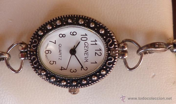 Relojes: Reloj para mujer marca Geneva Quartz, Movimiento Japonés, Reloj de batería (La batería es nueva) - Foto 5 - 45873458
