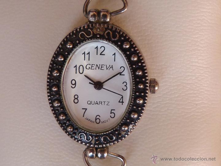 Relojes: Reloj para mujer marca Geneva Quartz, Movimiento Japonés, Reloj de batería (La batería es nueva) - Foto 6 - 45873458