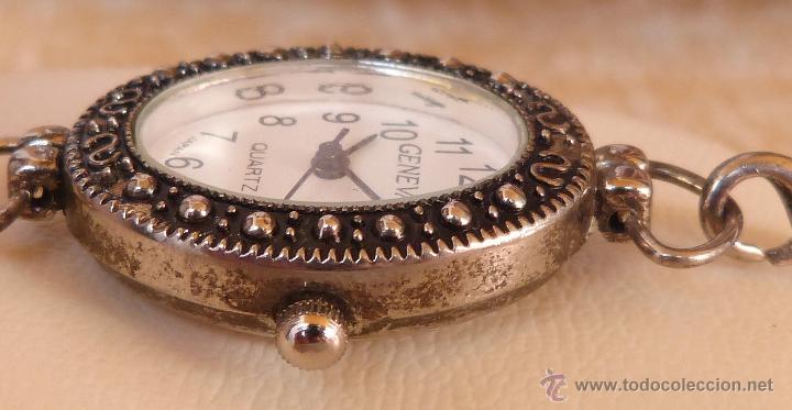 Relojes: Reloj para mujer marca Geneva Quartz, Movimiento Japonés, Reloj de batería (La batería es nueva) - Foto 7 - 45873458