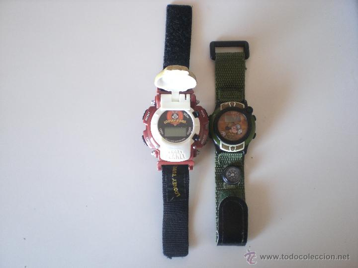 LOTE DE 2 RELOJES DISNEY Y WARNER BROS (Relojes - Relojes Actuales - Otros)