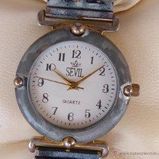 Relojes: RELOJ PARA MUJER MARCA SEVIL QUARTZ, RELOJ DE BATERÍA, MOVIMIENTO JAPONÉS, RESISTENTE AL AGUA. Lote 45987234