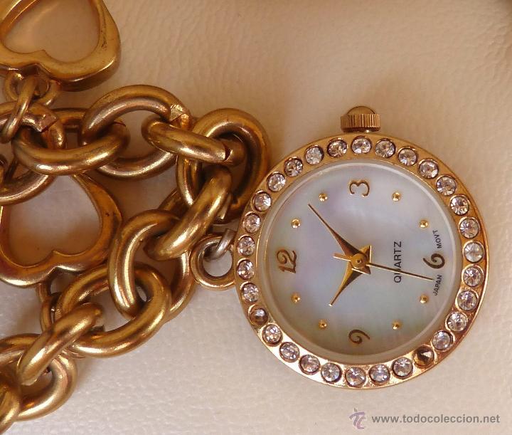 Relojes: Reloj marca Quartz para mujer, Reloj De Batería (La batería es nueva), Movimiento Japonés - Foto 3 - 45988091