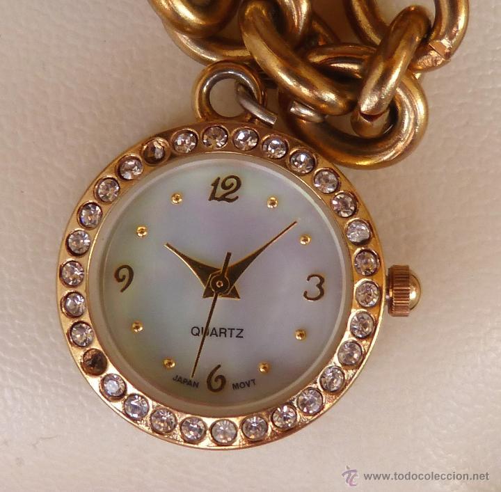 Relojes: Reloj marca Quartz para mujer, Reloj De Batería (La batería es nueva), Movimiento Japonés - Foto 4 - 45988091