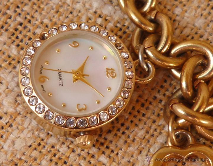 Relojes: Reloj marca Quartz para mujer, Reloj De Batería (La batería es nueva), Movimiento Japonés - Foto 5 - 45988091