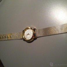 Relógios: RELOJ DE CUARZO, METALICO DORADO ESFERA BLANCA CORREA METALICA DORADA. Lote 46006735